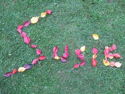 Susie's name in leaves