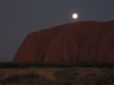 Full moon over Uluru