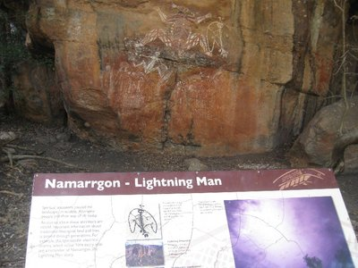Lightning Man in rock art at Nourlangie