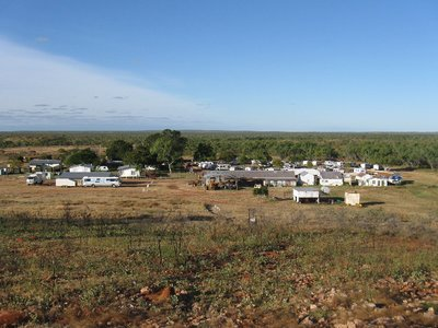 Banka Banka Station, the start of yesterday's long drive to Queensland