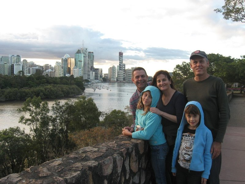 Inner city walks with Aunty Jenny and Uncle Greg. Kangaroo Point is a top spot for abseiling or getting wedding photos taken, usually not at the same time!