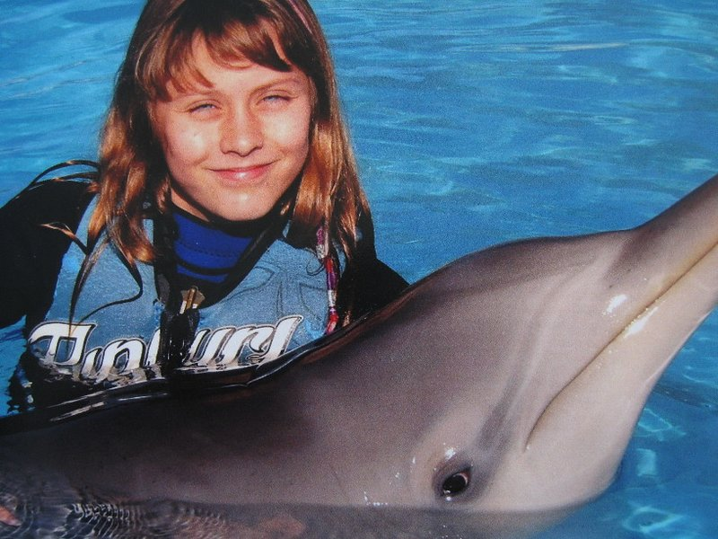 Bella the dolphin with her new friend, Susie. Photo: Pet Porpoise Pool, Coffs Harbour.