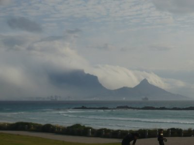 Misty day on Big Bay, Cape Town