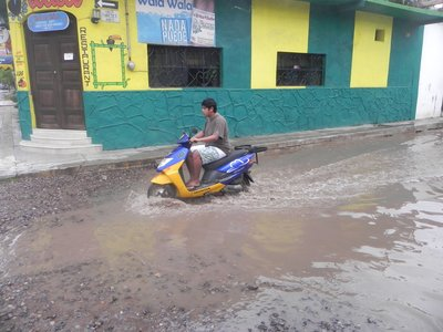 Typical San Blas street after rain