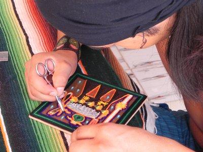 Huichol Yarn Pictures - Santiago