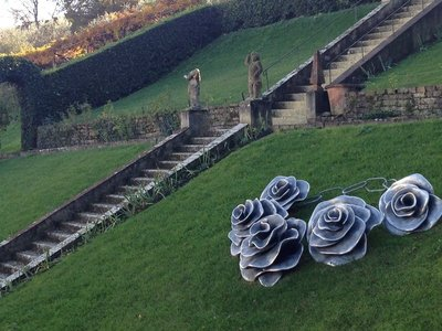 Flower sculptures, Bardini Gardens