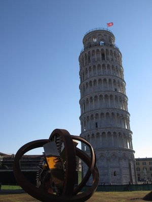 Leaning Tower & modern sculpture