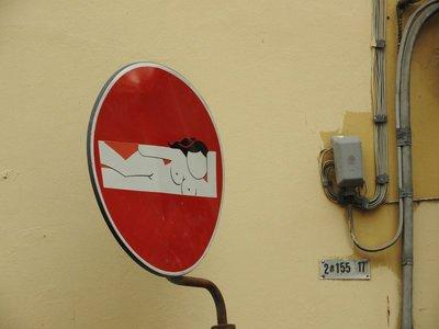 Clet Abraham street art