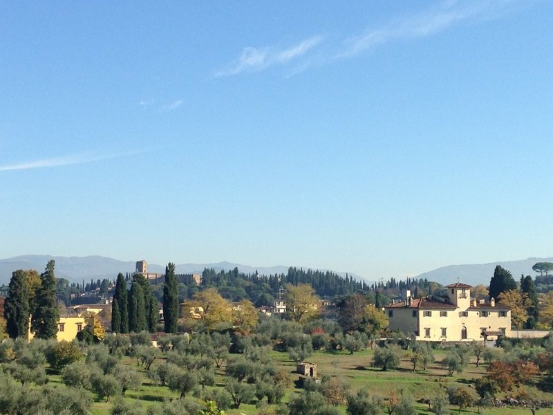 View to hills above Florence to the south