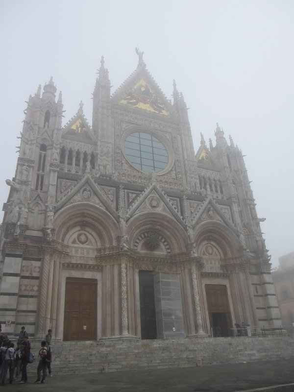 Siena Cathedral in the fog