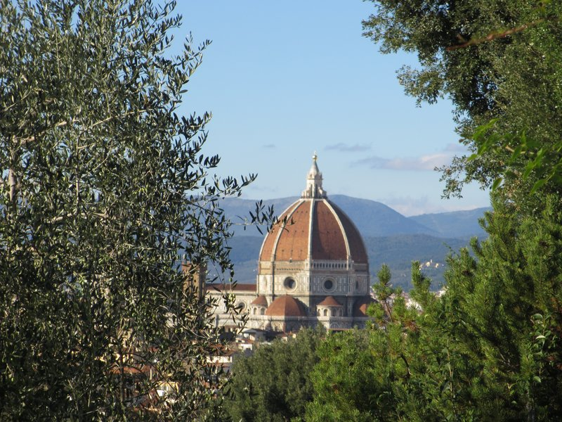 Lovely view of the Duomo from Giardini della Rosa