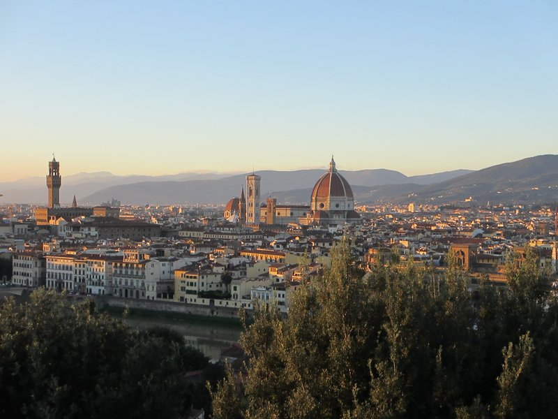 Florence at sunset from Piazzale Michelangelo