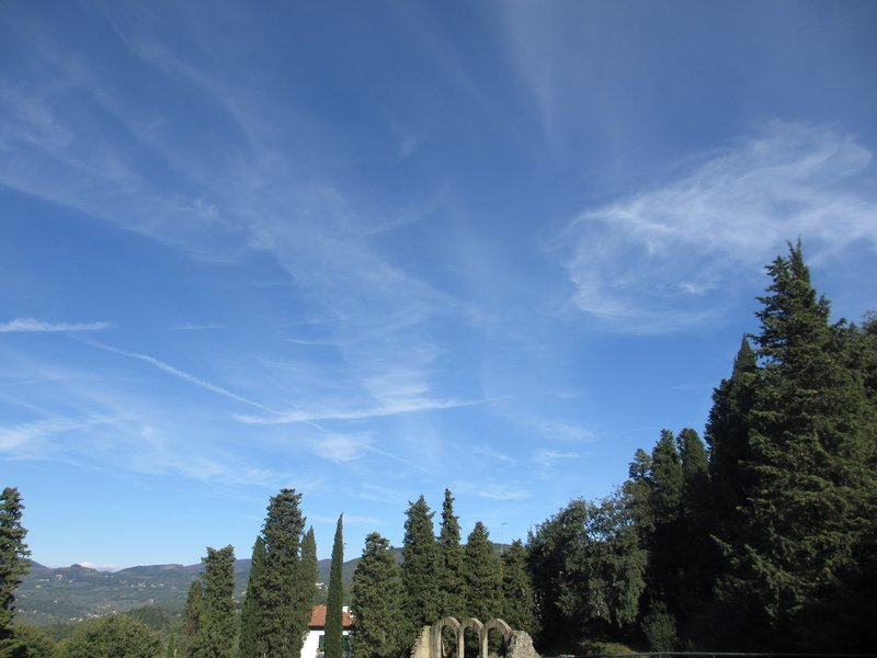 Windy sky at archeological area, Fiesole
