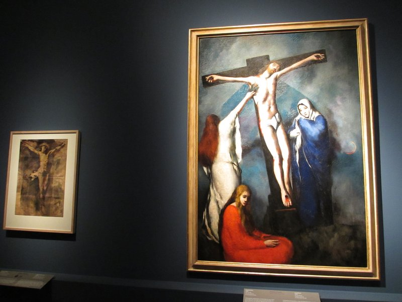 Crucifixion, Primo Conti, with Picasso on left