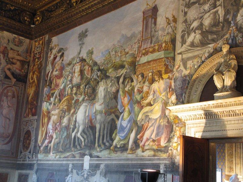 Wall paining, Palazzo Vecchio
