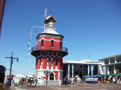 Clock tower at Victoria and Alfred Docks