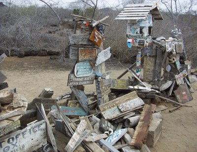 The 'Post Office', Floreana, Galapagos Islands