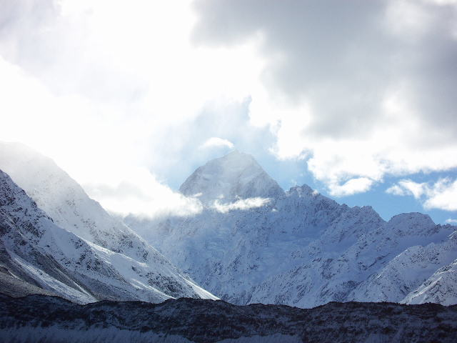 Mount Cook and cloud - 2