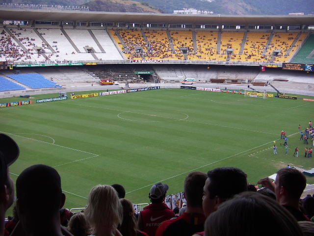 At the match, Maracana Stadium, Rio