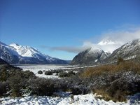 Misty mountain plain, Kea Point trail, Mt Cook
