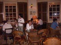 Sharon in the Raffles Hotel