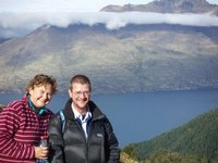 Sharon and Andy, Ben Lomond walk, NZ