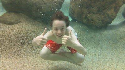 In the swimming pool - Hamilton island