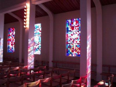 pink church Iceland