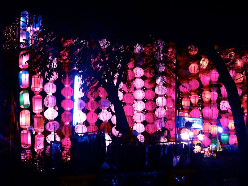 Paper lamps at the Loi Krathong Festival in Chiang Mai, Thailand