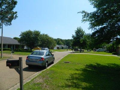 mijn idee van een amerikaanse wijk (met 'mijn' auto)