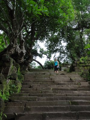 Stairs up to Wat Phu