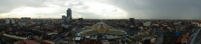 Phnom Penh View and market