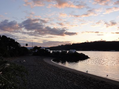 Sun rise at the Belinda bay, Wellignton