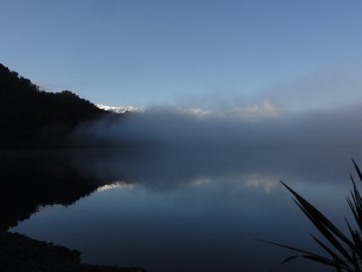 Lake Mapourika after the rain