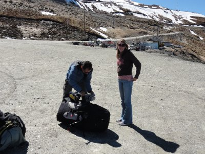 just about to jump of the mountain paragliding