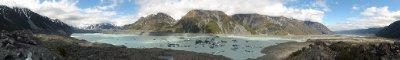Tasman glacier and valley