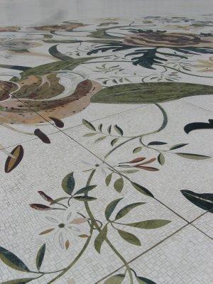 Tile detail on courtyard