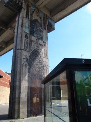 Impressive Street art under an overpass.