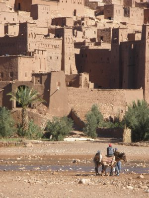 Beautiful movie set background in Morocco.