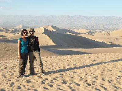 Huacachina - Am, Ajay and sand dunes!