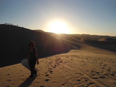 Huacachina - Am, sandboard and sunset
