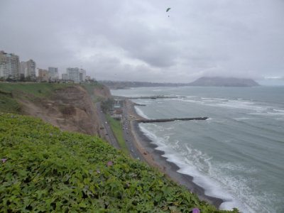 Lima - Pacific coast in Miraflores