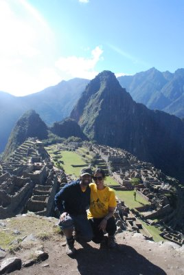 Ajay and Am at Machu Picchu