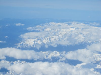 Alps from Airplane