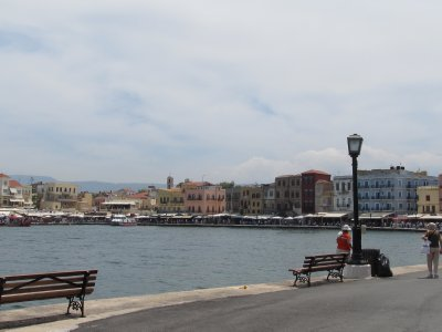Chania port town
