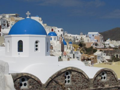 Colorful houses in Oia