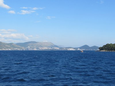 Dubrovnik town from the boat