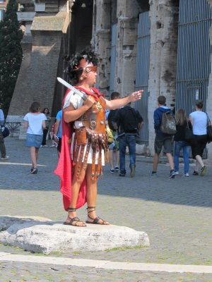 "Have your photo taken with a ""real"" gladiator, for a price of course"