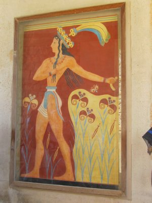 Very famous minoan artwork at the palace