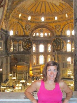 Inside the Hagia Sofia museum